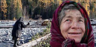 Femeia din Siberia. A trait 70 de ani in salbaticie. Povestea Agafiei