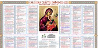 Calendar ortodox noiembrie 2020. Sarbatorile religioase cu cruce rosie si zilele de post