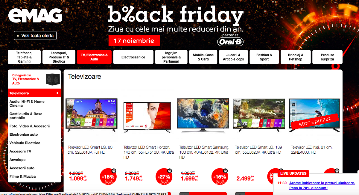 Emag Black Friday 2020 Produsul Redus Cu 34 000 De Euro Haihui In Doi Aventura Vietii Noastre