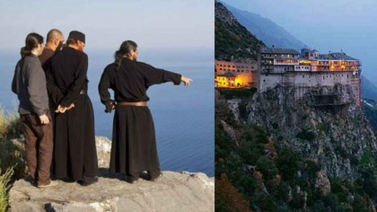 A încălcat regula! Ce a pățit o femeie care a urcat pe Muntele Athos