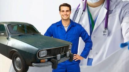"""Un ginecolog vrea să se reprofileze ca mecanic auto. La rezultate, stupoare: tipul luase nota 15. """"Da, dom'ne, hai să vedem, spune mecanicul şef. Ţi-am dat să…"""