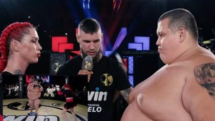 "MMA: ""Razboiul sexelor de categorii diferite"" Darina Madziuk (63 de kg) – Grigory Chistyakov (240 kg)"