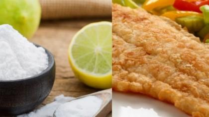 A pus bicarbonat de sodiu peste pește, apoi l-a prăjit. Ce a rezultat, de fapt
